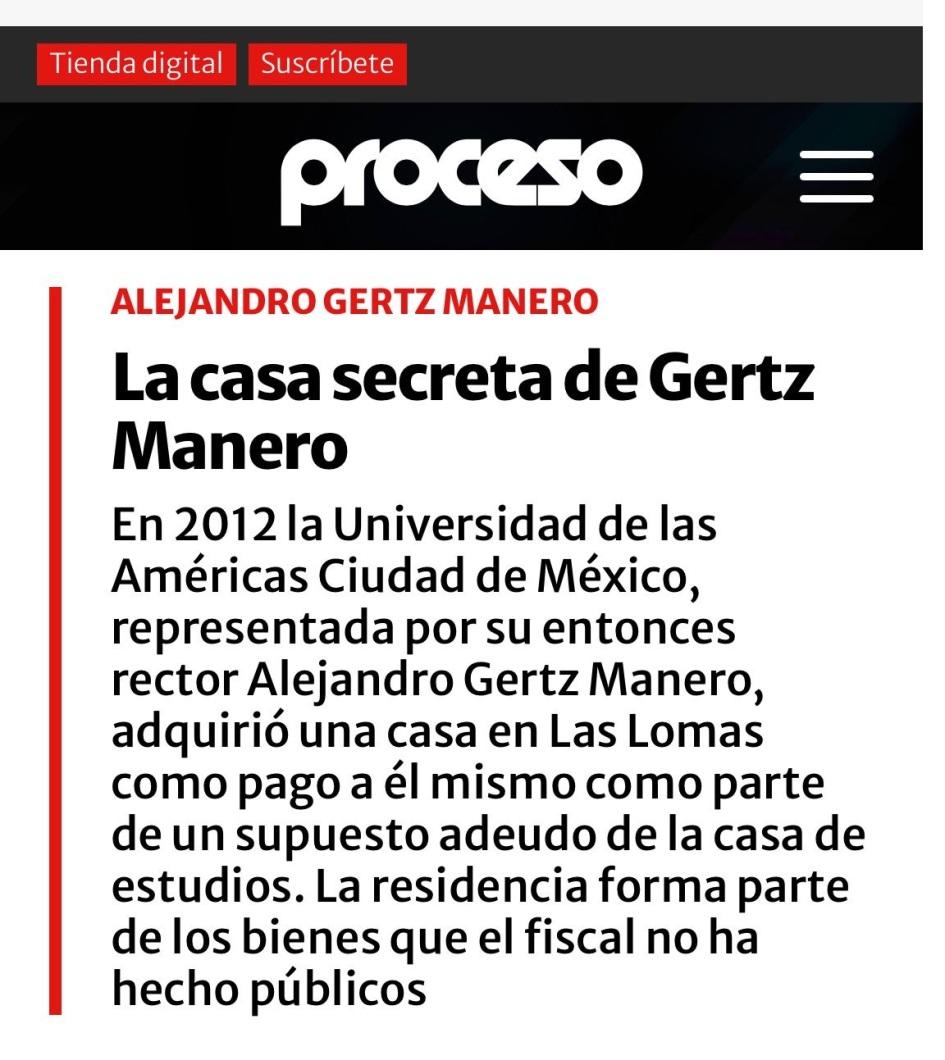 LA CASA SECRETA DEL FISCAL GERTZ MANERO.